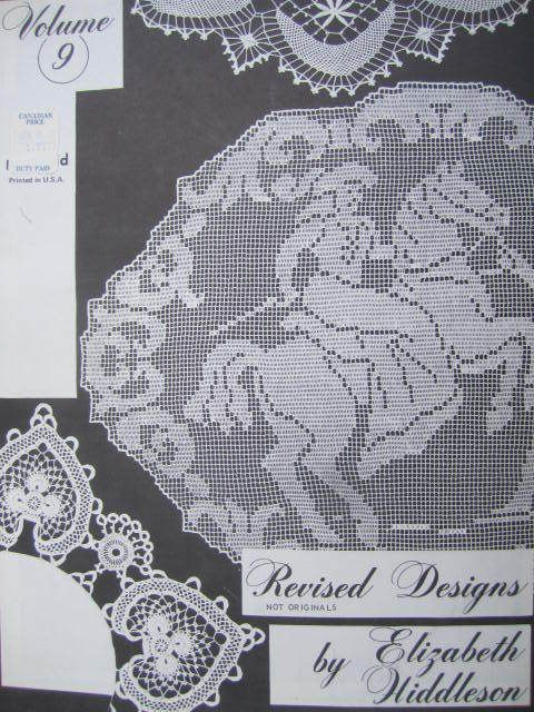 See Sally Sew-Patterns For Less - Crochet Designs Vintage Elizabeth Hiddleson Volume 9 Needlework Booklet, $7.99 (http://stores.seesallysew.com/crochet-designs-vintage-elizabeth-hiddleson-volume-9-needlework-booklet/)