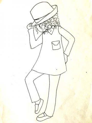 おシャレして・・フェドラ帽の女の子 - パッチワークキルト・手芸キットのゆう風舎 Net Shop/ from Story quilt 2