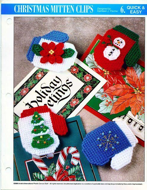 Christmas Mitten Clips 1/3