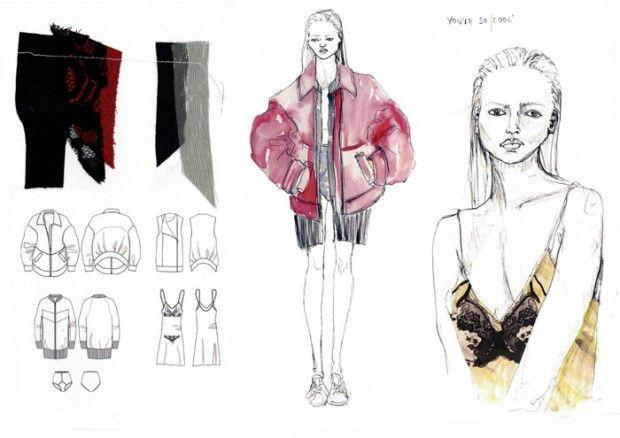 Fashion Sketchbook - fashion illustrations; flat drawings & fabrics; fashion portfolio // Lauren Hunt