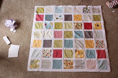 charm pack baby quilt tutorial