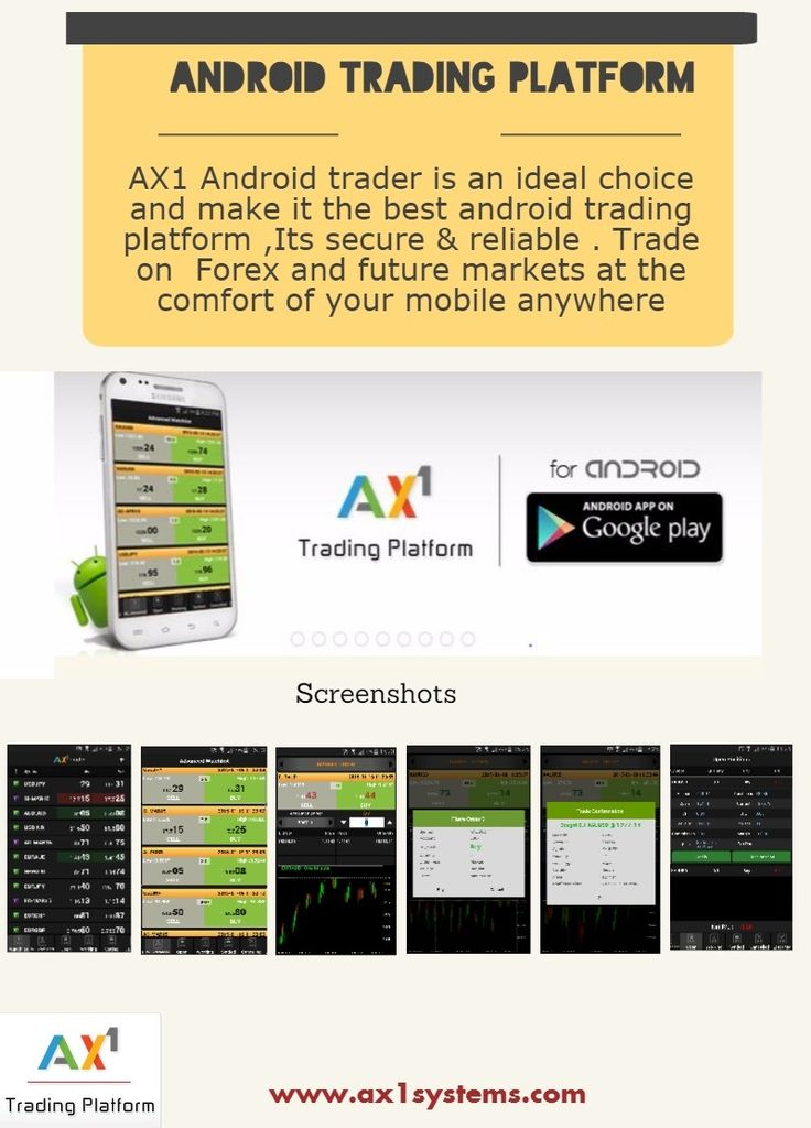 Ax1 Trader is the best trading platform in android.with ax1 trader view most popular markets to see price movements in real time,expand screen to view open positions,working orders and account balances.