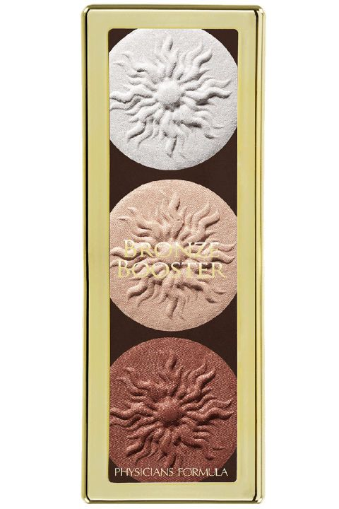 Three shimmery powder highlighters that feel like butter and leave skin glowing. Physician's Formula Bronze Booster Contour And Strobe Palette in Shimmer, launching January 2017.