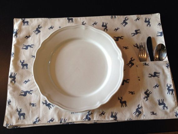 Christmas placemats by Whistlebrook on Etsy