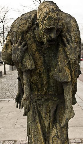Famine (1997) on the Custom House Quay in Dublin - Public art is successful if it makes people stop, look and think.