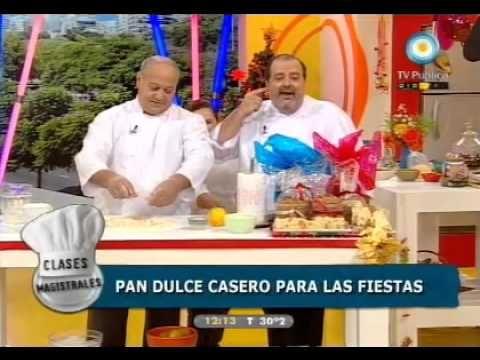 Clases Magistrales ¿Cómo hacer el clásico pan dulce?. Cocineros Argentinos
