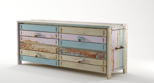 ROPE ME Chest 4 Drawers Recycled Furniture - Pastel Light from Earth Homewares