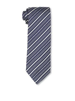 Moschino Men's Striped Tie, Blue/Grey