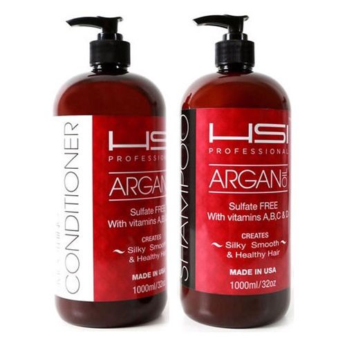 The HSI Professional Sulfate Free & Paraben Free Shampoo & Conditioner, nourished with Argan Oil and made with Vitamins A,B,C & D. What else can you ask for to get the perfect healthy hair. Visit us at HSI Professional Hairbar at The Falls Mall in Miami,Fl.