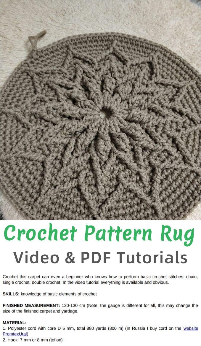 Video Tutorial Crocheting Rug Fox Text Description In Etsy In 2020 Crochet Rug Patterns Free Crochet Rug Patterns Rug Pattern