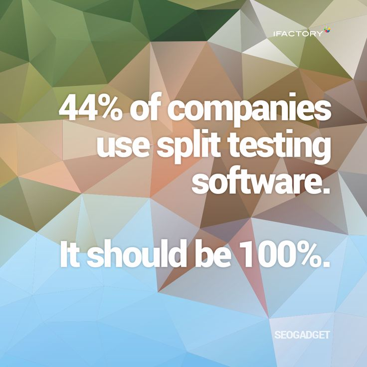 44% of companies use split testing software  It should be 100% #ifactory #landingpages #marketing #digitalmarketing