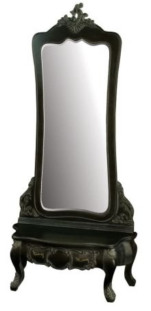 Haunted:  Antique French Noir Cheval #Mirror.