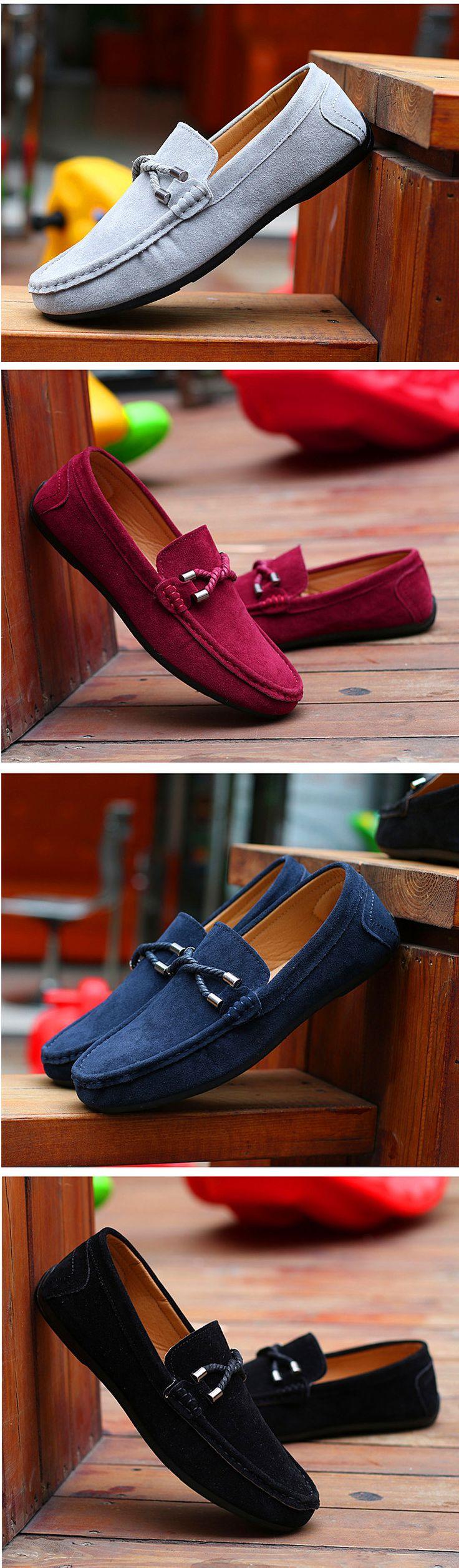 Новых внешней торговли мужские легкие летом замша кожа обувь Горох корейской версии повседневная обувь ленивый обувь британских мужчин вождения - Taobao