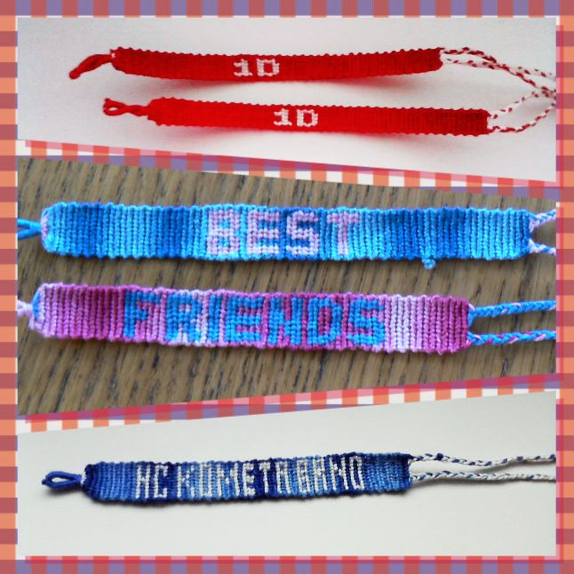 Friendship bracelet with text-1D, Best friends, HC Kometa Brno