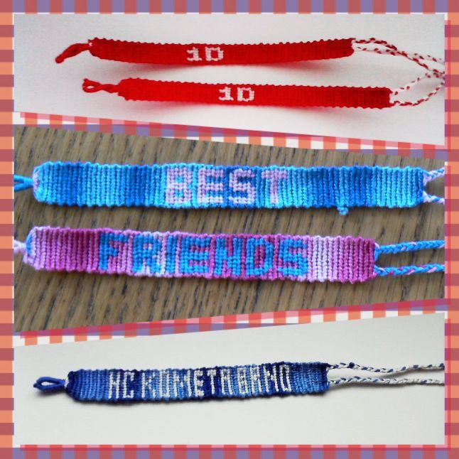 Friendship bracelet with text-1D, Best friends, HC Kometa Brno