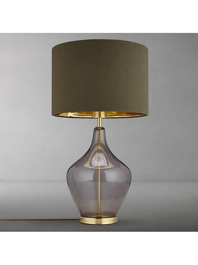 John Lewis Partners Ursula Table Lamp Smoked Glass Table Lamp Table Glass