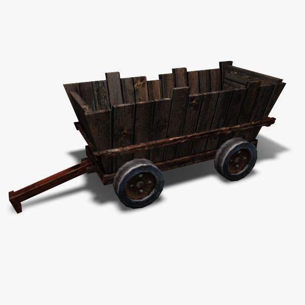 Low Poly Mining Cart 3D Model - 3D Model