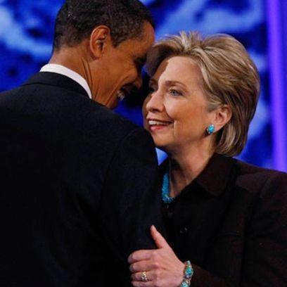 Hillary Clinton avec Barack Obama