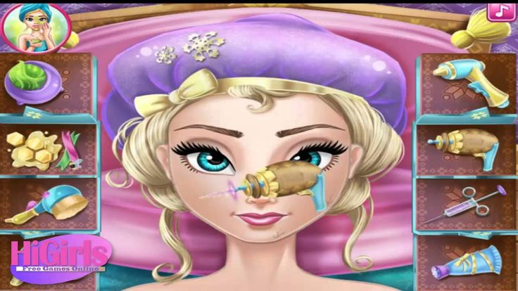 Disney Princess Games ♥ Elsa Real Cosmetics ♥ Girl Games For Free  [HD]