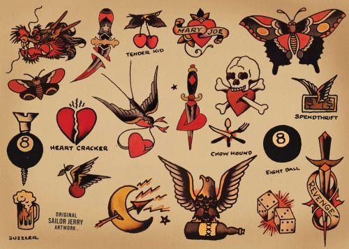 Resultado de imagen para sailor jerry tattoos