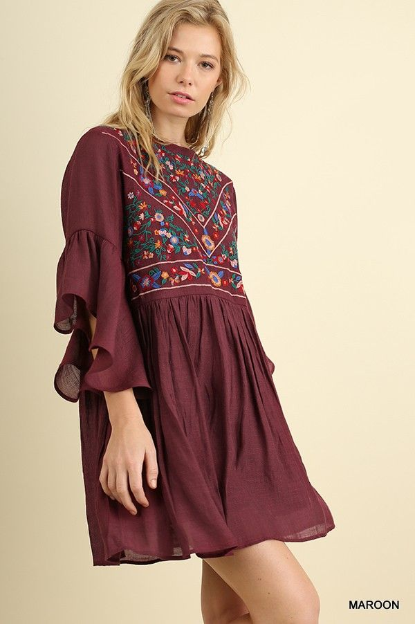 f92771eb901 C0384 ( by Umgee U.S.A )   boutique clothes   Dresses, Bell sleeve ...