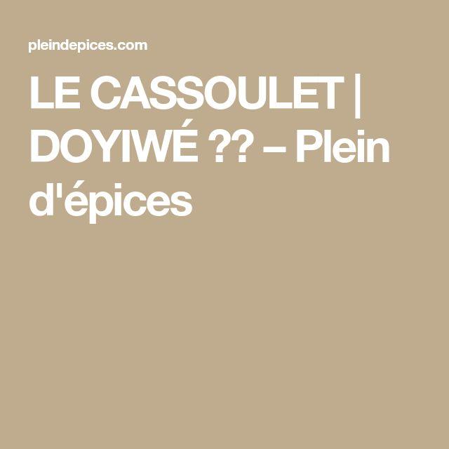 LE CASSOULET   DOYIWÉ 🇧🇯 – Plein d'épices