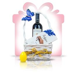 """Pure Savour  Un #cos #cadou de primavara, Pure Savour, propune aroma bogata a vinului rosu Chianti cu finetea ciocolatei cu lapte belgiene, intr-un design proaspat in culori deschise, subliniate de un galben luminos, pentru un """"multumesc"""" delicios de fiecare data.   #cadoubusiness #coscadou #cadougourmet #cosurigourmet"""