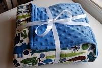 Baby shower gift - simple baby blanket tutorial