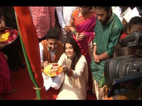 CHECKOUT Aishwarya Rai and Abhishek Bachchan celebrate Gudi Padwa 2015.  See the video at : https://youtu.be/1uMUkbfZvbA #aishwaryarai #abhishekbachchan #gudipadwa