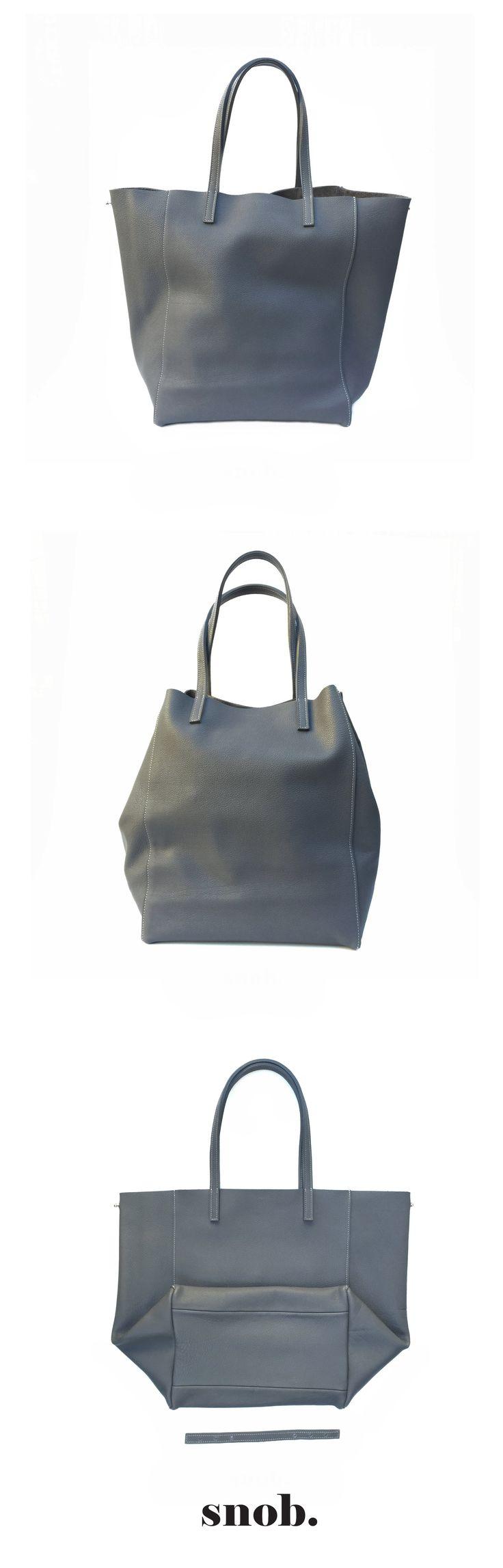 Tote bag #snob #snobdot #totebag #grey #leather
