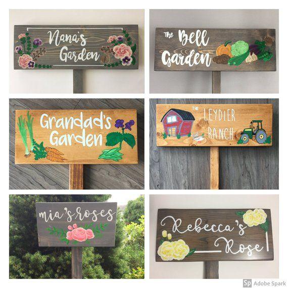 Personalized Garden Sign Memorial Sign Gardening Or Memorial Gift Custom Outdoor Garden Sign Garden Signs Memorial Signs Outdoor Signs