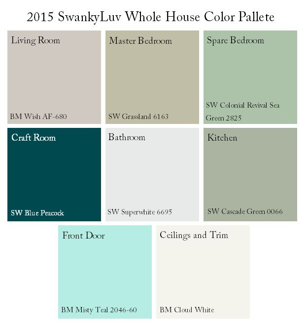 Swankyluv | Whole House Color Scheme | http://www