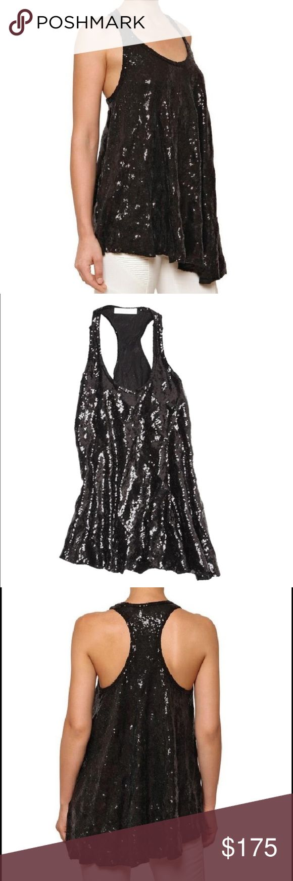 Balmain Asymmetrical Sequin Top Pierre Balmain Black Asymmetric Sequined Tank Top    Brand new with the tags!!! Size Extra-Small    This PIERRE BALMAIN women's oversize black poly-blend tank top dress is a STYLISH and VERSATILE piece!  Cut from breathable fabric with an elastane give, it sports EYE-CATCHING flawy sequin detailing throughout,  a scoop neckline, and an asymmetrical hem at its opening.  This piece is GORGEOUS and in FANTASTIC condition!    Please ask any other questions…