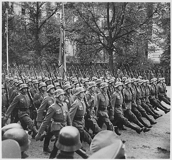 Causes of World War 1: Invasion of Poland.  Tensions and problems with nationalism were main causes of the second world war. Countries were going through economic struggles and could easily be taken over, due to lack of strength of their government. This photo is Germany invading Poland, the spark that started it all.