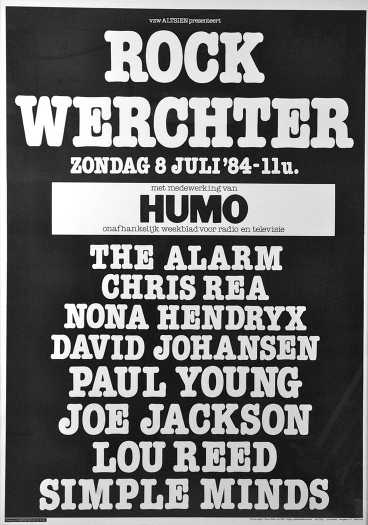 Rock Torhout/ Rock Werchter 1984