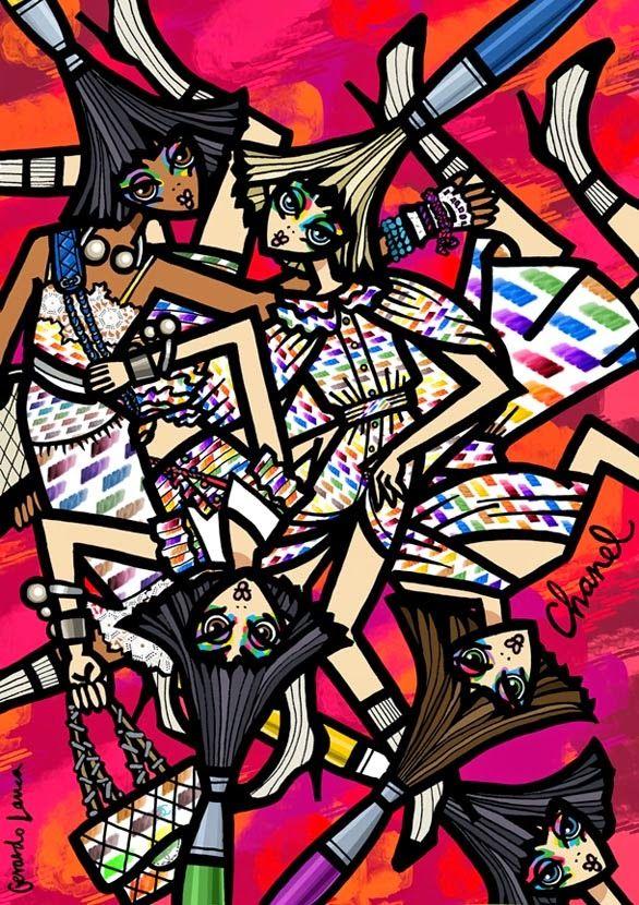 Illustration.Files: Chanel S/S 2014 by Gerardo Larrea