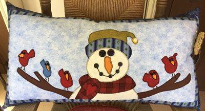 Snowman Bench Pillow,