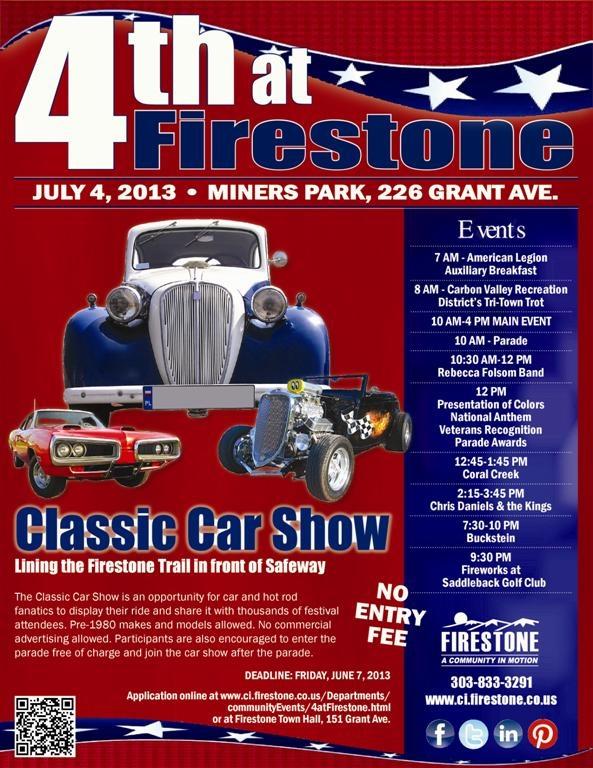4th at Firestone  7/4/2013 Classic Car Show