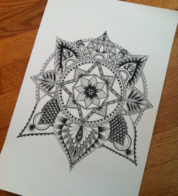 Limited Addition Lotus Mandala Prints by UnmarketableTalents on Etsy starting at $10