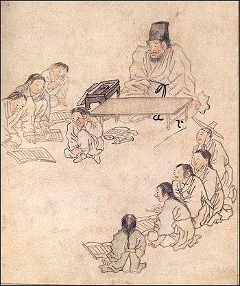 소년한국 : 소년한국 : [우리 그림 한국화] '서당- 김홍도'
