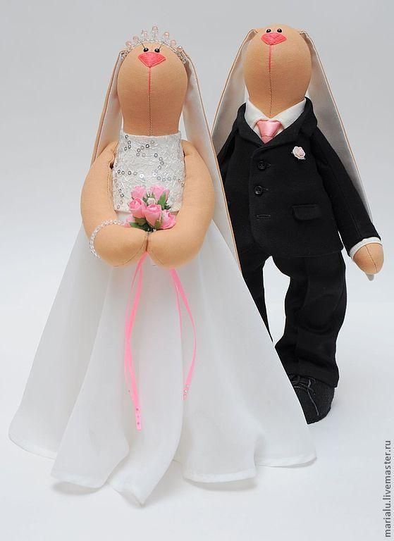 Wedding Tilda Toy Bunnies |  Свадебная пара – купить в интернет-магазине на Ярмарке Мастеров с доставкой