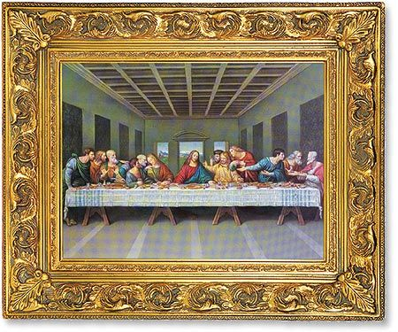 last supper linen finished framed print these last supper images are beautifully crafted with fine