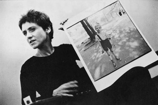Diane Arbus with one of her famous photos