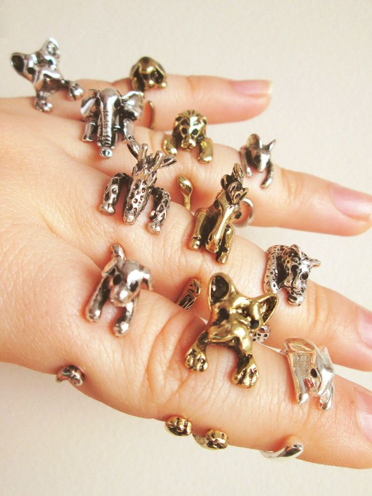 Anelli animali Bunny anello, anello cucciolo, cane anello, anello elefante, giraffa anello, Cocker Spaniel anello, cavallo anello, anello Leone, Leopard Ring di TriangleJewelry su Etsy https://www.etsy.com/it/listing/226356117/anelli-animali-bunny-anello-anello