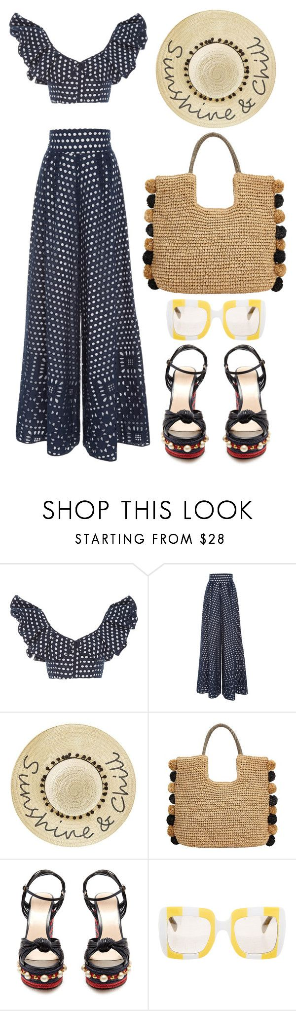 """Johanna Ortiz"" by thestyleartisan on Polyvore featuring Johanna Ortiz, Betsey Johnson, John Lewis, Gucci, Dolce&Gabbana and embellishedshoes"