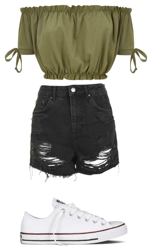 """""""Untitled #39"""" by fashiongirl923 on Polyvore featuring Topshop and Converse"""