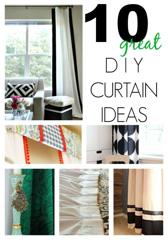 10 Great DIY Curtain Ideas on a budget!: On A Budget, Black Frames, Decoration Idea, Curtains Idea, 10 Diy'S, Crafts Idea, Diy'S Curtains, Diy Curtains, Windows Treatments