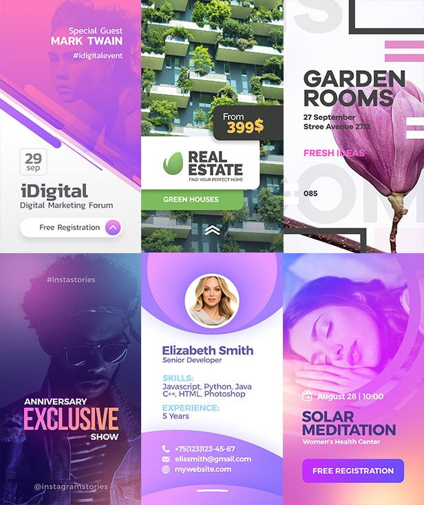 10 Collection #templates #bundle #Instagram #Stories
