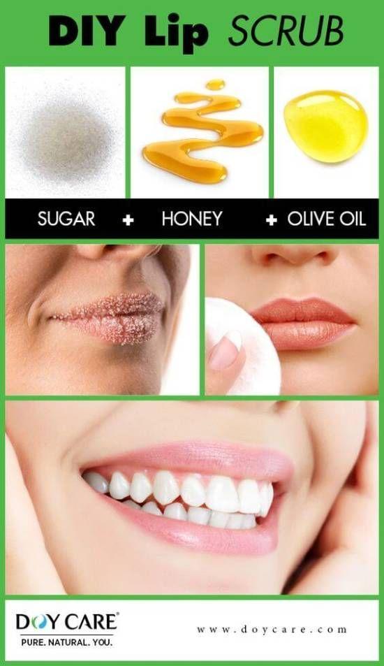 DIY Lippenpeeling - Zucker, Honig, Olivenöl