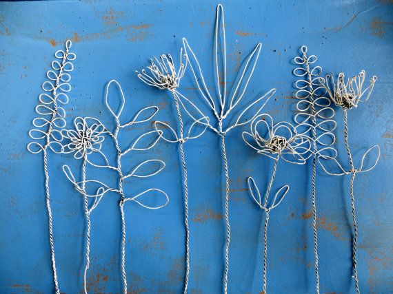 Wire Flowers Boho Bouquet Sculpture in by CharestStudios on Etsy